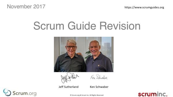 2017 Scrum Guide Update
