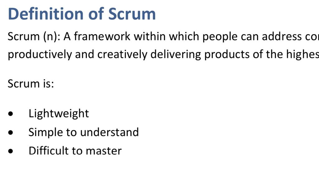 Definicja Scruma