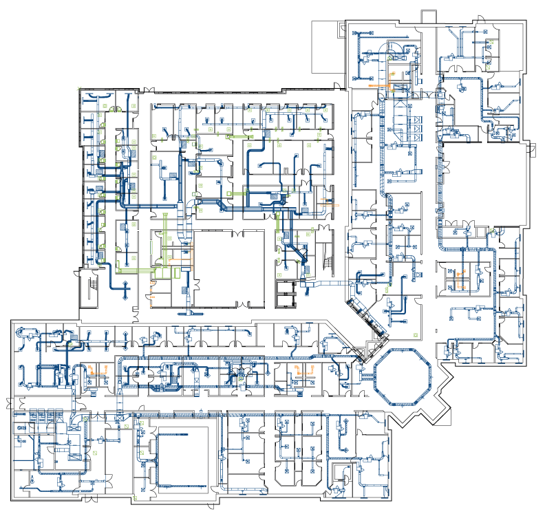 2D-Floor-Plan-with-colored-duct-work