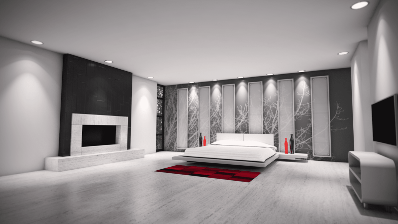 3D design Bedroom render