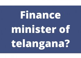 Finqnce minister of telangana?