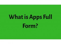 What is The Full form of apps?