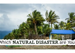 Have you ever been in a natural disaster? What and how was it?