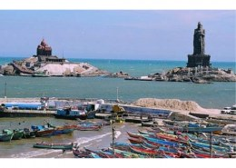 The southernmost point of peninsular India, that is, Kanyakumari, is?