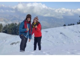 During which month nag tibba receives snowfall?