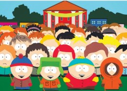 In what year was the first episode of South Park aired?