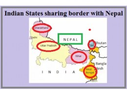 which district of Bihar does not shares border with Nepal?