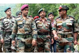 Is Dhoni an army officer?