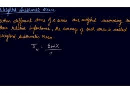 define weighted airthmetic mean?