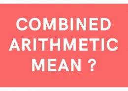 what are two type of airthmetic mean?