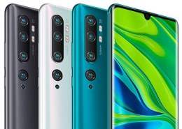 In how many colours does the new mi note 10 is featured?
