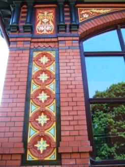 Detail wiederhergest Fassade