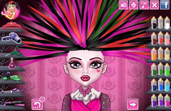 Monster High Real Haircuts Girls Game