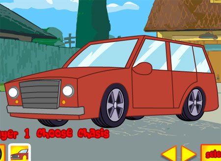 car race games for kids free screenshot phineas and ferb game