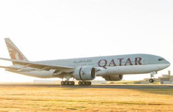 Qatar Airways' inaugural flight touches down on New Zealand's Waitangi Day in Auckland.