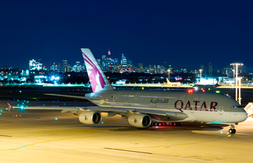 Qatar Airways' A380 aircraft makes its Australian debut in Sydney