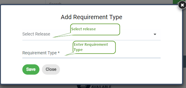 Add Requirement Type
