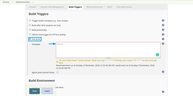 Jenkins - scheduling build trigger