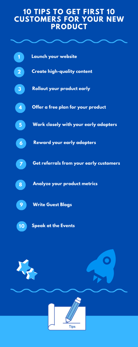 10 Tips To Get First 10 Customers For Your New Product