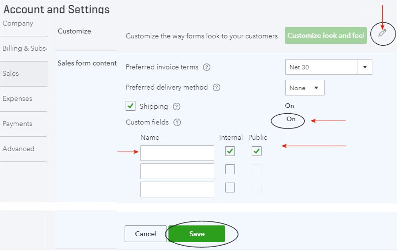 Customizing Quickbooks Online Invoice Templates Qbalance Com
