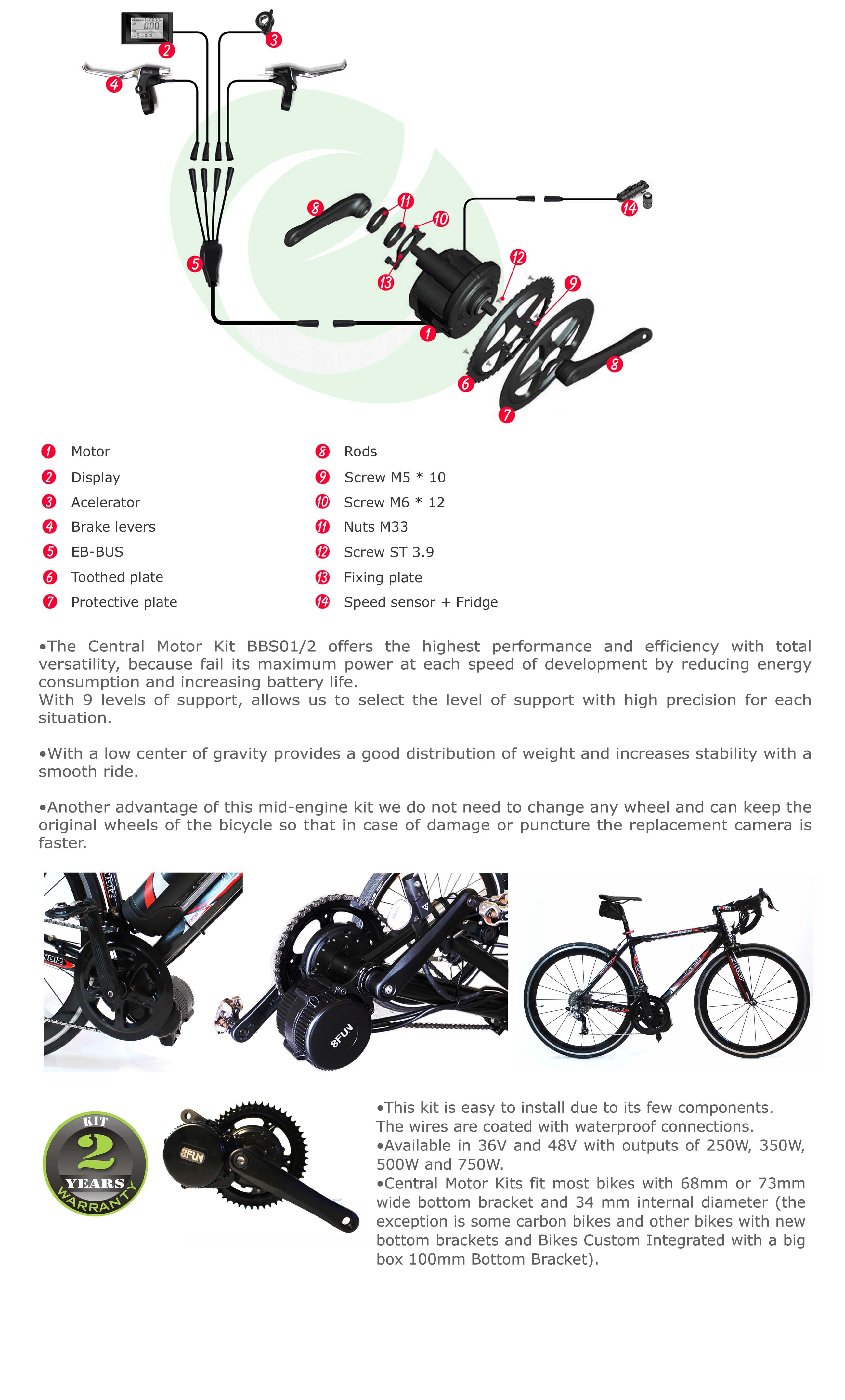 Efficienced Electric Bicycle Kits Valencia Motorization
