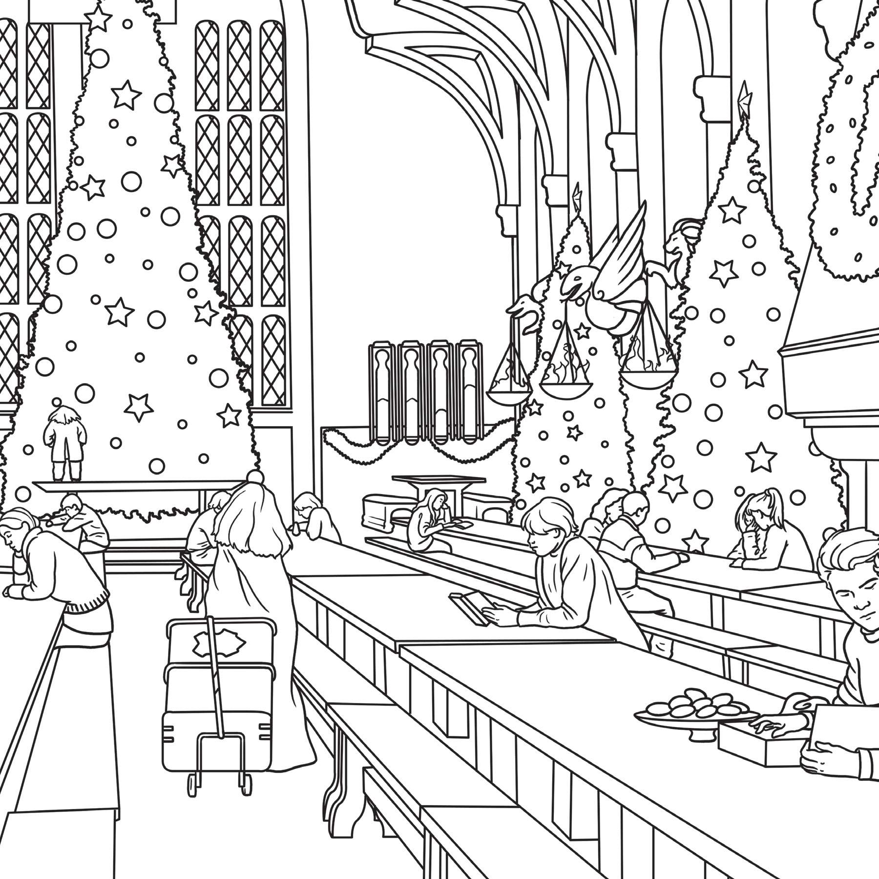 Harry Potter Winter At Hogwarts A Magical Colouring Set