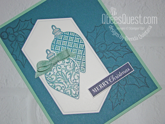 Gleaming Ornaments Card Closeup