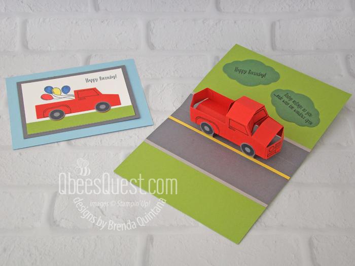 3D Truck Pop-Up Card