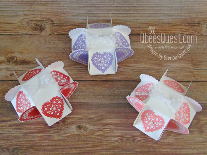 Clam Shell Heart Boxes
