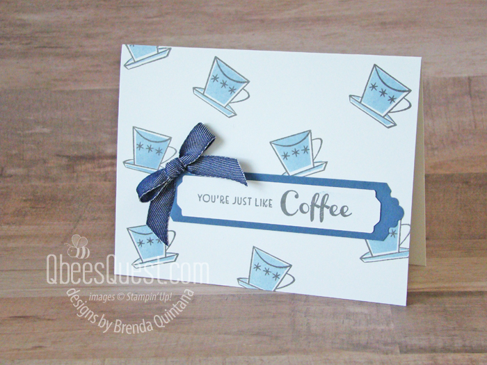 Stampin' Up Nothing's Better Than Coffee Card