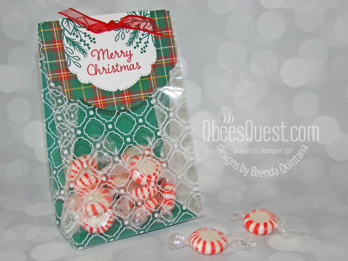 Stampin' Up Celebration Tidings Christmas Treat Bag