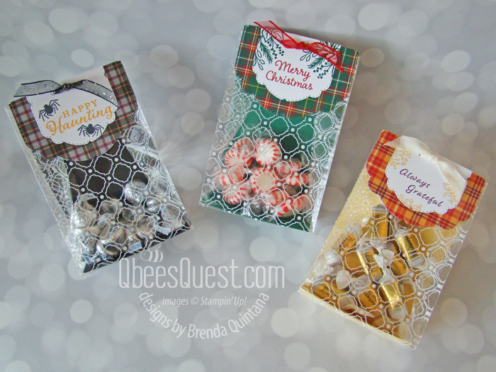 Stampin' Up Celebration Tidings Treat Bags