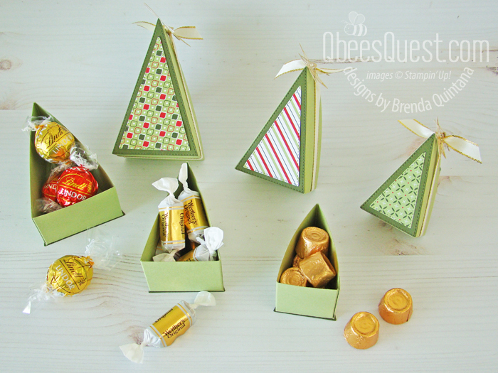 Stampin' Up Stitched Triangles Christmas Trees