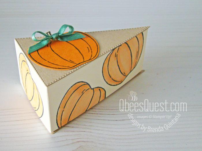 Stampin' Up Stitched Triangles Pumpkin Pie Slice