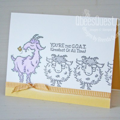 Stampin Up Way to Goat Card