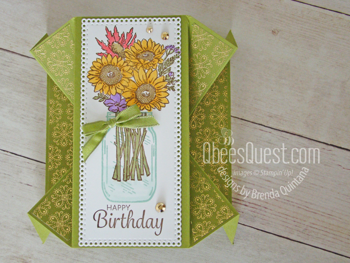 Stampin' Up Double Fan Fold Card
