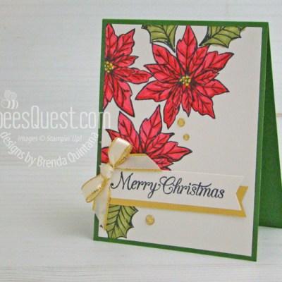 Stampin Up Poinsettia Petals Christmas Card