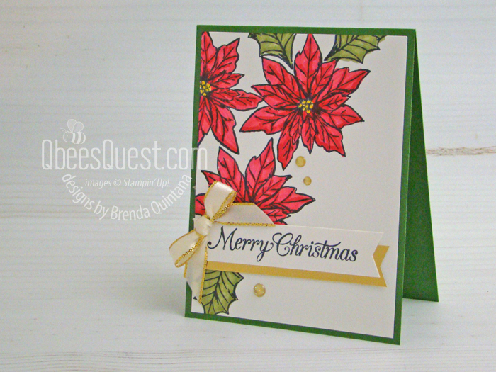Stampin Up Poinsettia Petals Christmas Card