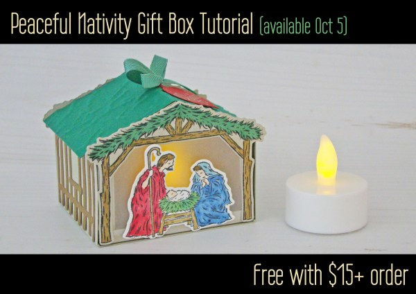 Stampin' Up Peaceful Nativity Gift Box Tutorial
