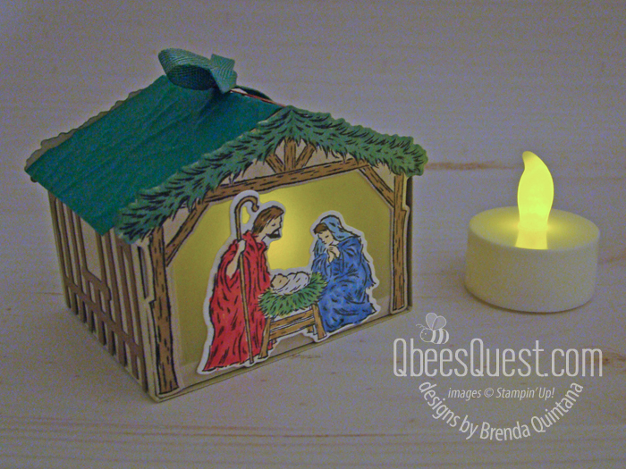 Stampin' Up Peaceful Nativity Gift Box
