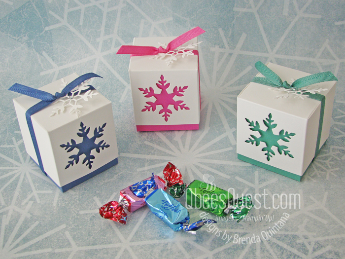 Stampin' Up Snowflake Cube Boxes