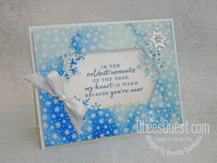 Stampin' Up Snowflake Wishes Shaker Card
