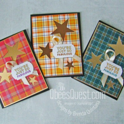 Stampin' Up Stitched Stars Cards