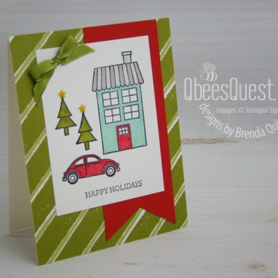 Stampin' Up Coming Home Christtmas Card