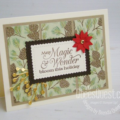 Stampin' Up Poinsettia Petals Card