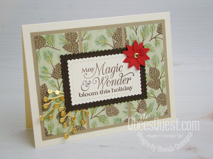 Stampin' Up Poinsettia Petals Card
