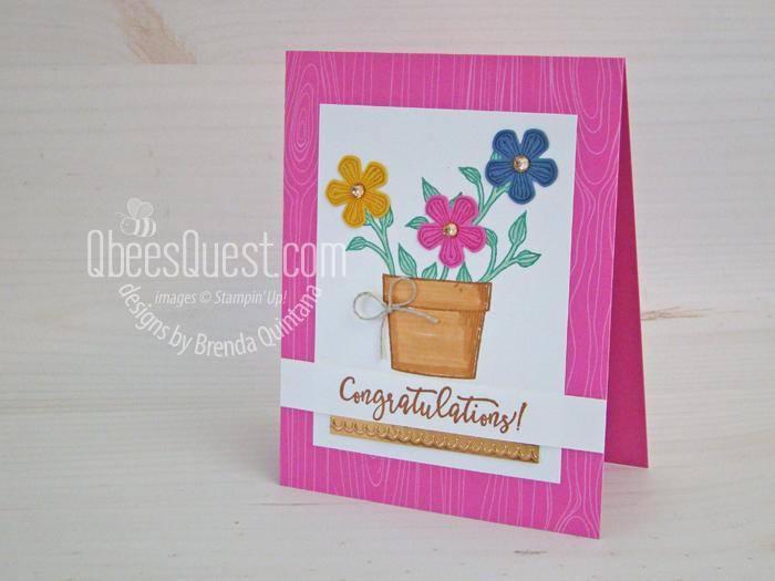 Basket of Blooms Congratulations Card