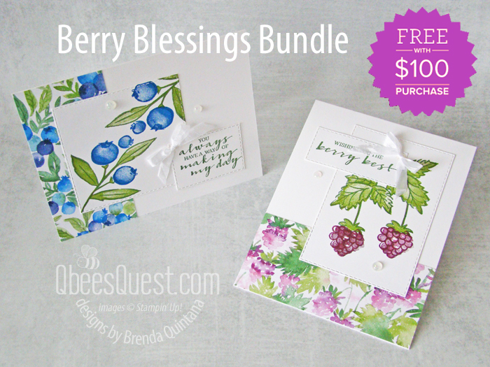Stampin' Up Berry Blessings Cards