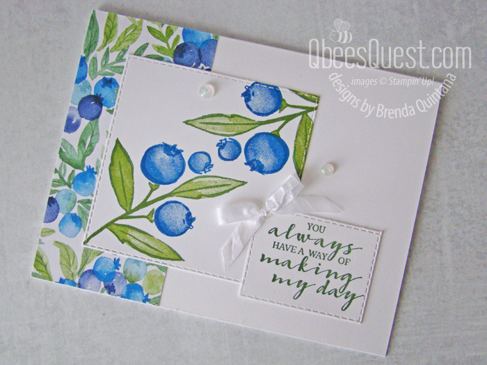 Stampin' Up Berry Blessings Card
