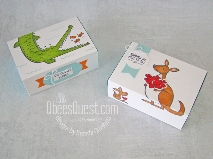 Stampin' Up Slider Treat Boxes from Scratch